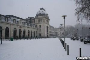 Das soll Südfrankreich sein?! : Der Hauptbahnhof von Toulouse im Schnee