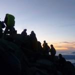 Alle warten auf den Sonnenaufgang