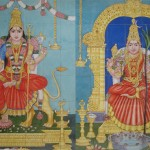 Tief durchatmen in Kuala Lumpur - Wandbemalung eines Hindutempels