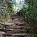 Der Weg ist eine einzige Treppe