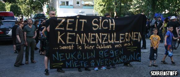 An der Richardstraße startete am Samstag die Anti-Gentrifizierungsdemo