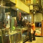 Einblick in den das Schmuckangebot auf dem Bazaar in Teheran