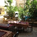 Innenhof unseres Hotels in Yazd